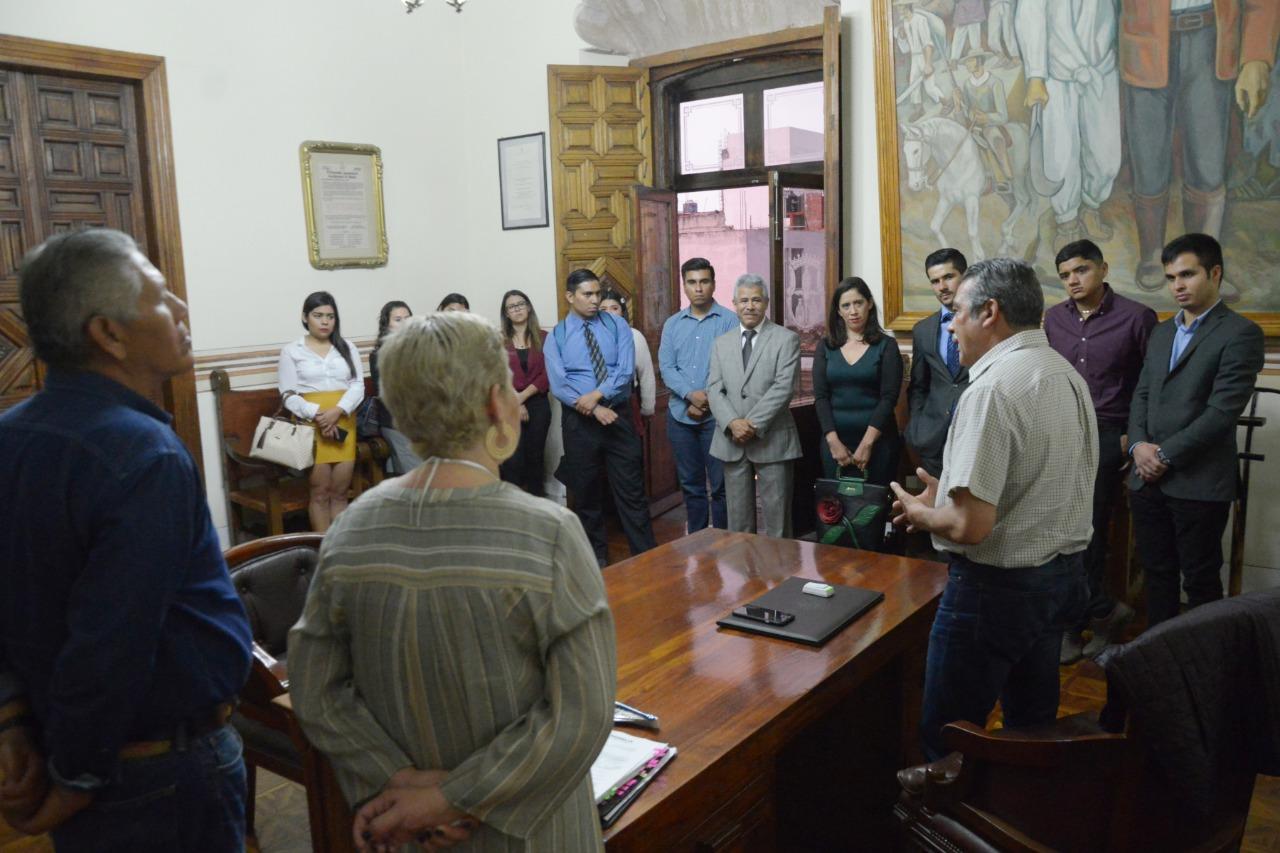 ALUMNOS PRESENTES EN LA SESIÓN DE CABILDO DEL AYUNTAMIENTO DE MORELIA