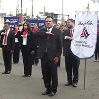 LaSallistas presentes en el Tradicional Desfile en Honor al Generalísimo Don José María Morelos y Pavón