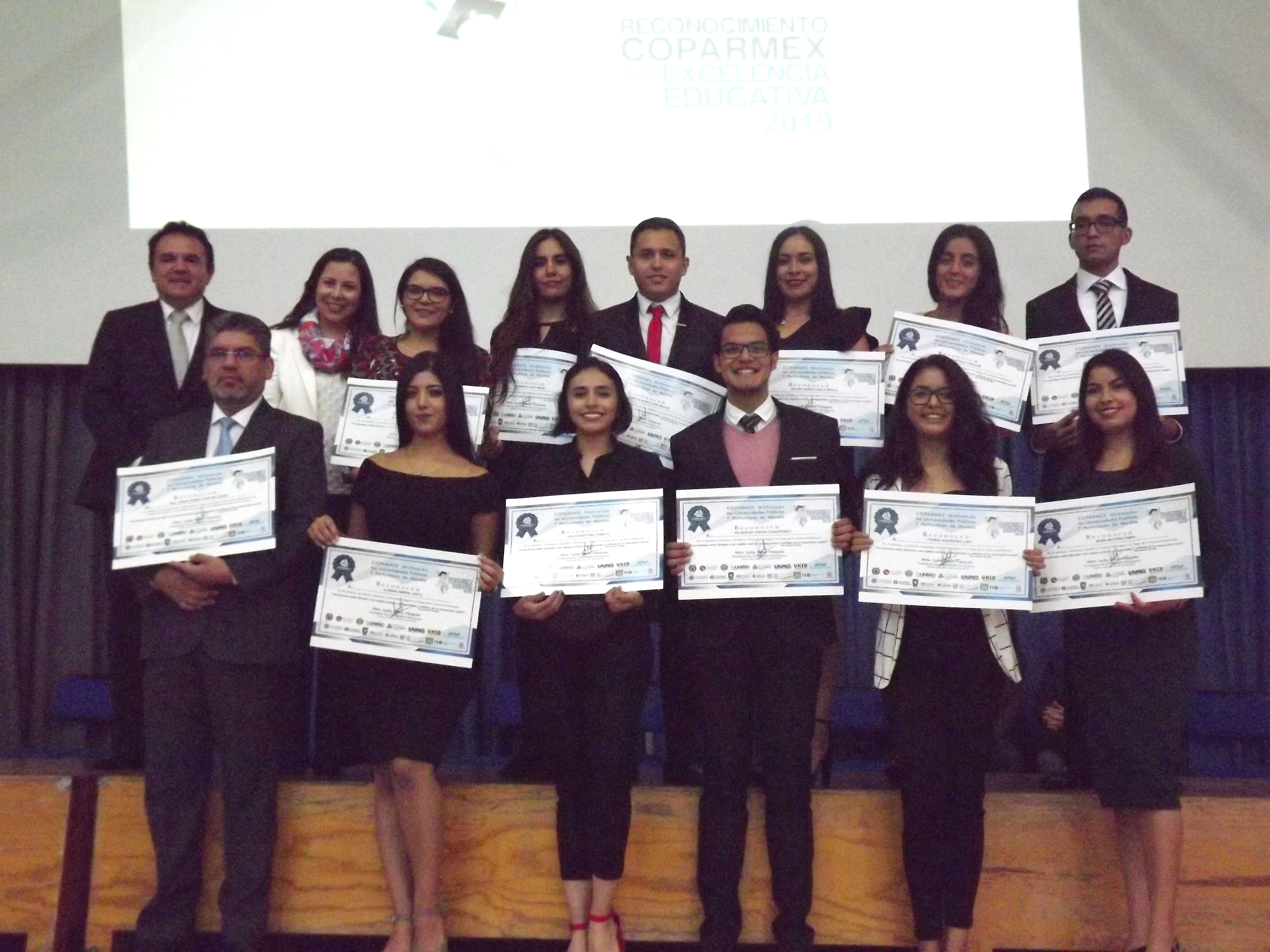 ENTREGA DE RECONOCIMIENTOS COPARMEX A LA EXCELENCIA EDUCATIVA 2019