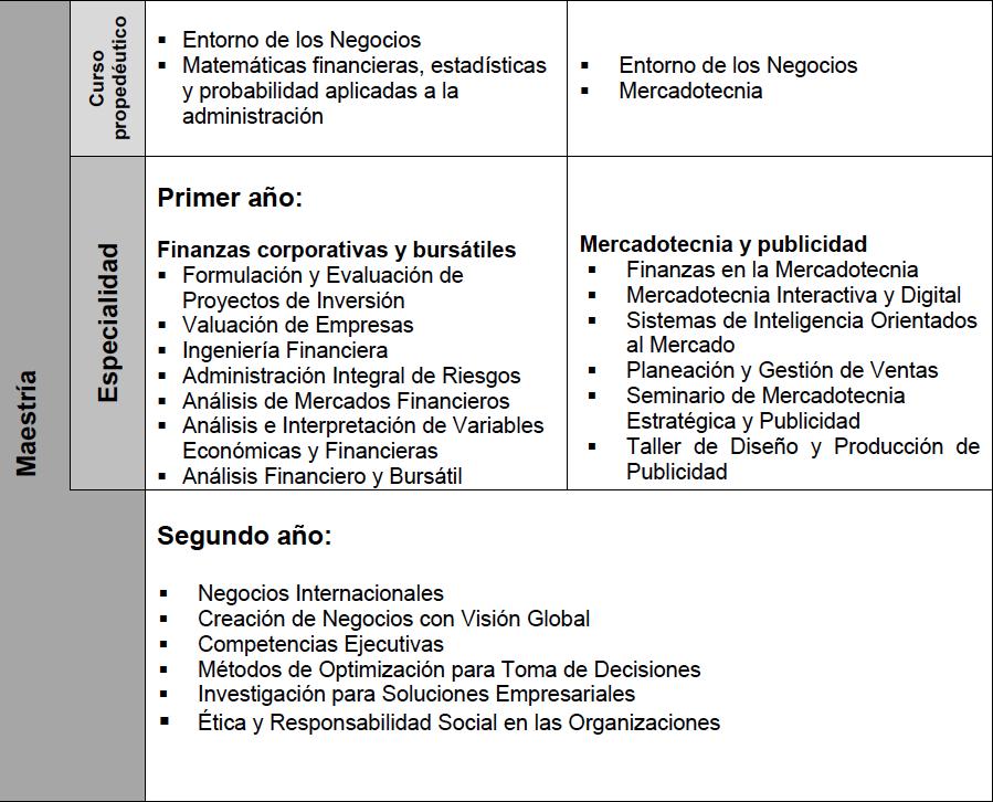 MAESTRÍA - ADMINISTRACIÓN- PLAN DE ESTUDIOS